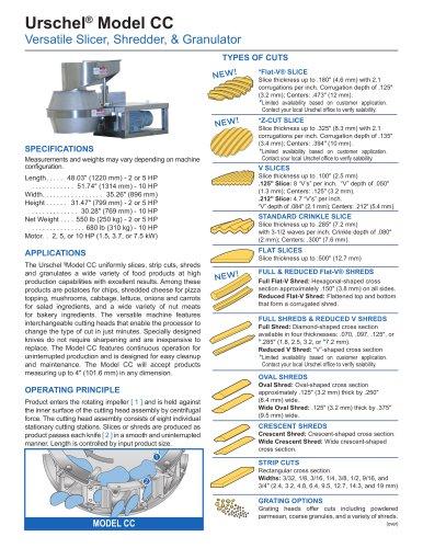 Urschel® Model CC