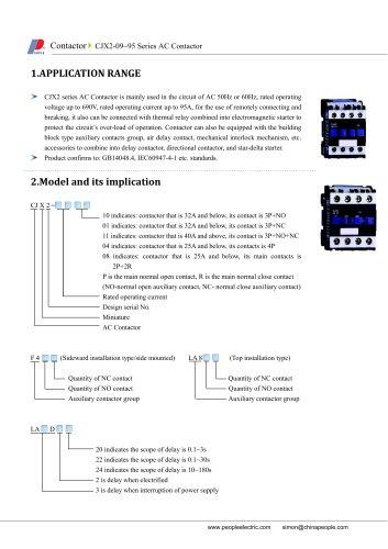:CJX2-09~95 Series AC Contactor