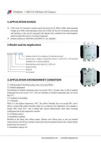 CJX2-115~630 Series AC Contactor