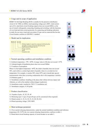 RDB67-63 series MCB