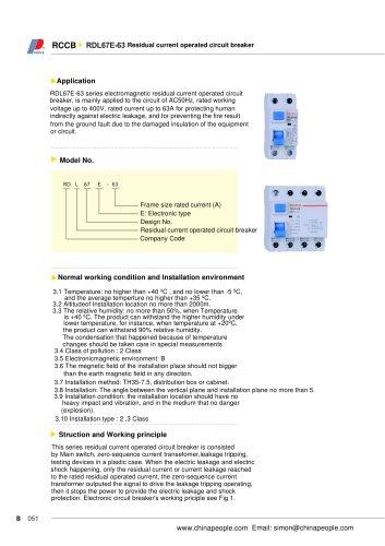 RDL63E-63 series RCCB