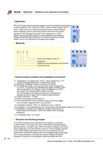 RDL67-63 series RCCB