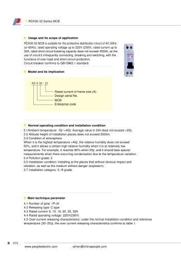 RDX30-32 series MCB
