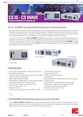 Ficha de producto: Serie CS IS - CS WAVE
