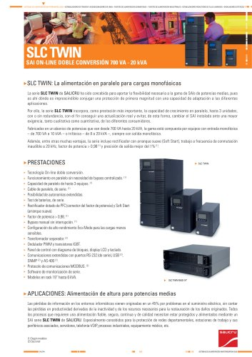 Ficha de producto: Serie SLC TWIN