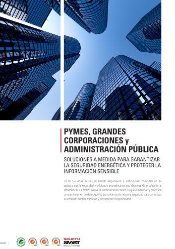 Pymes, grandes corporaciones y administración públicas