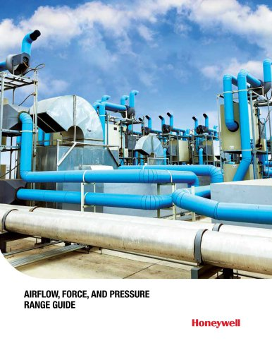Honeywell Airflow Pressure and Force Range Guide