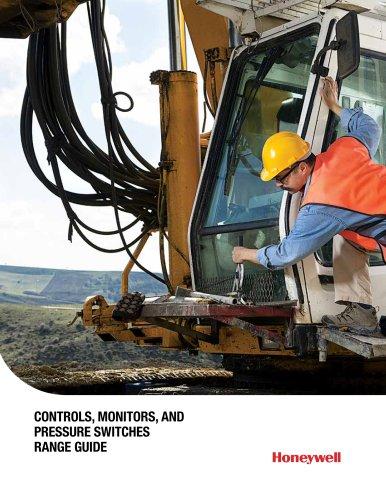 Honeywell Operator Controls, Monitors, and Pressure Switch Range Guide