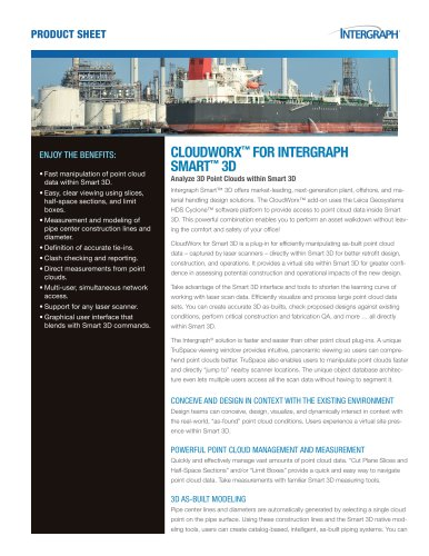 CLOUDWORX™ FOR INTERGRAPH SMART™ 3D