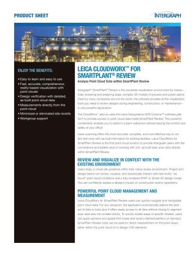 LEICA CLOUDWORX? FOR SMARTPLANT