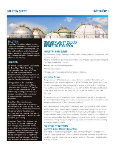 SMARTPLANT® CLOUD BENEFITS FOR EPCs