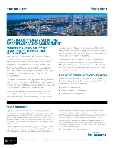 SMARTPLANT® SAFETY SOLUTIONS: