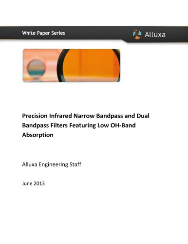Precision Infrared Narrow Bandpass and Dual Bandpass Filters Featuring Low OH-Band Absorption