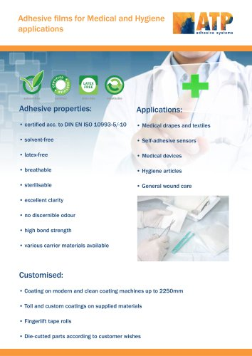ATP Tapes for medical and Hygiene Applications