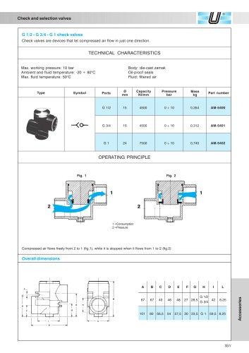 AM-54_Check valves G 1/2 ÷ G 1