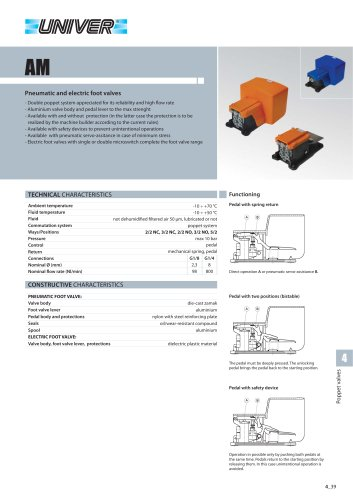 AM_Pneumatic and electric foot valves