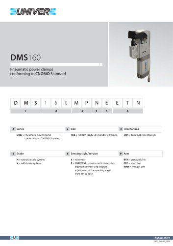 DMS160_Pneumatic power clamps conforming to CNOMO Standard