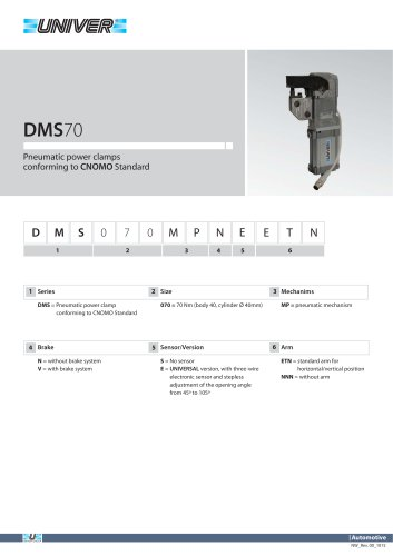 DMS70_Pneumatic power clamps conforming to CNOMO Standard