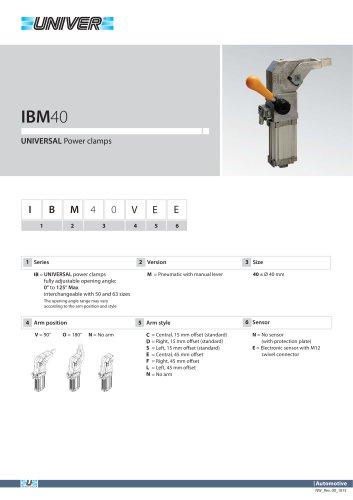 IBM40_UNIVERSAL Power clamps