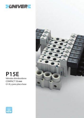 P15E Válvulas distribuidoras COMPACT 15 mm G1/8 y para placa base