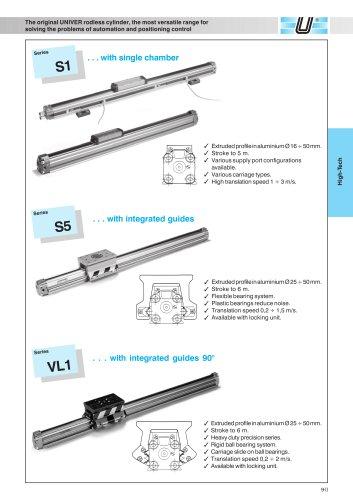 Rodless cylinders Ø 16-50 mm