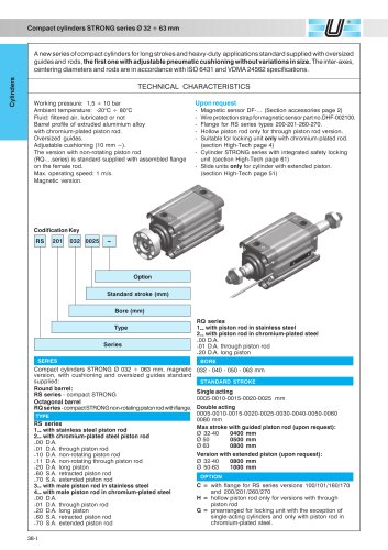 RQ_STRONG Compact CylindersØ 32-63 mm octagonal tube