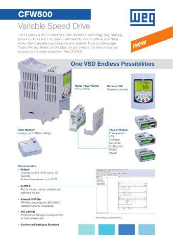 CFW500 Machinery Drives - VSD - Flyer