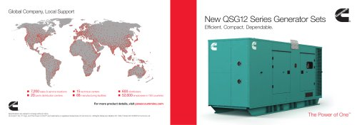 New QSG12 Series Generator Sets