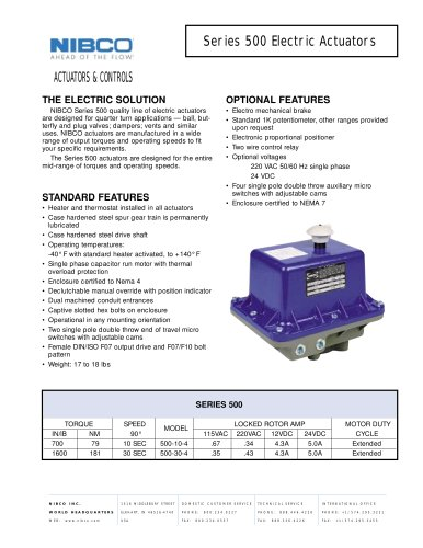 Series 500 Electric Actuators