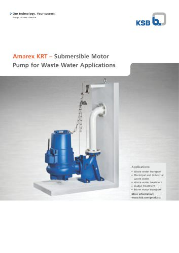 2-page description Amarex KRT, Submersible Motor Pump