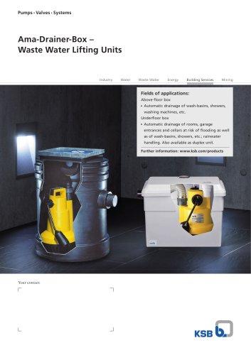 Ama-Drainer-Box – Waste Water Lifting Units