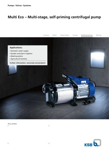 Multi Eco – Multi-stage, self-priming centrifugal pump