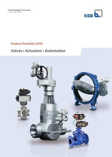 Product Portfolio 2019 Valves ı Actuators ı Automation