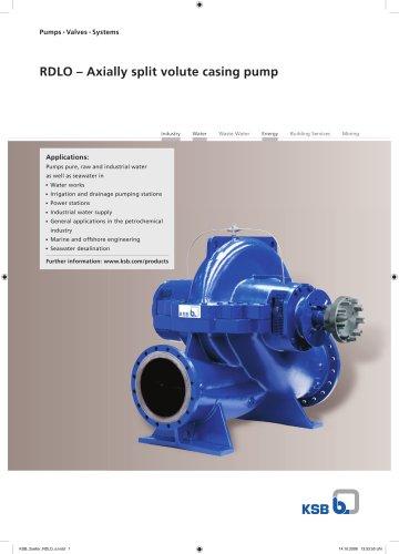 RDLO – Axially split volute casing pump