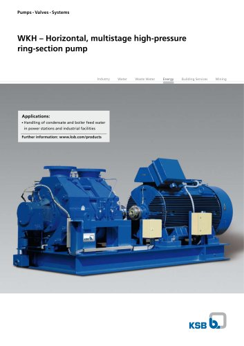 WKH – Horizontal, multistage high-pressure  ring-section pump