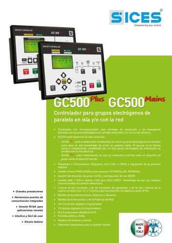 GC500 - Controlador para grupos electrógenos en  función en paralelo aislados y/o con la red