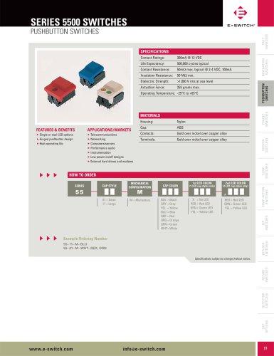 5500 Series Illuminated Pushbutton Switches