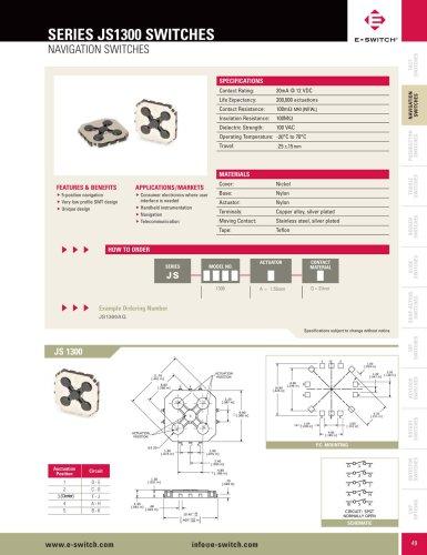JS1300 Series 5-position Navigation Switch