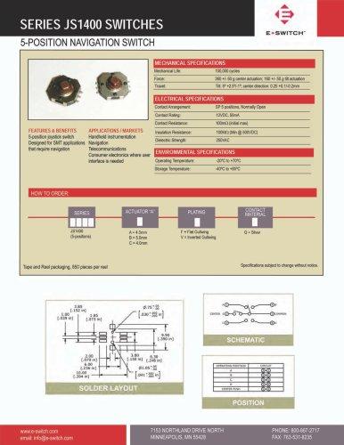 JS1400 Series 5-position Navigation Switch