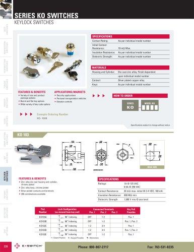 KO Series Keylock Switches