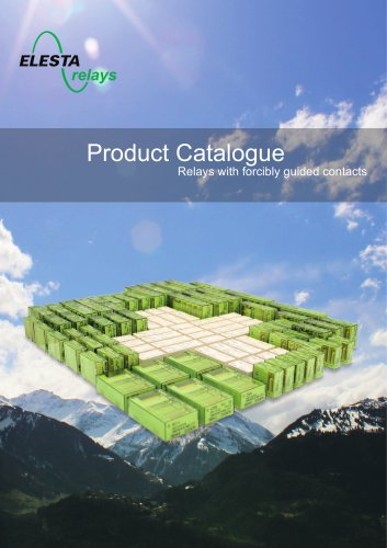 Product catalogue 2014 - Relays with forcibly guided contacts