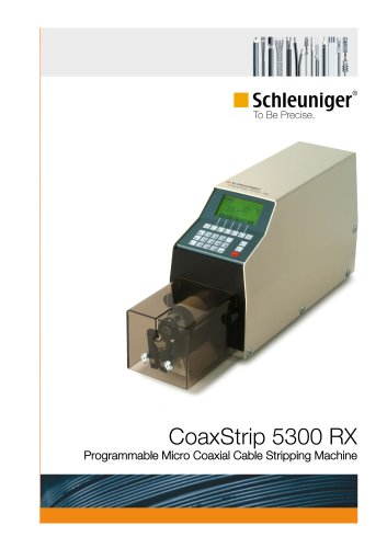 CoaxStrip 5300 RX programmable micro coaxial cable stripping machine
