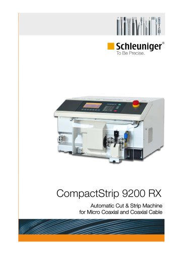 CompactStrip 9200 RX Automatic Cut & Strip Machine for Coaxial Cable