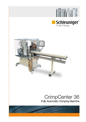 CrimpCenter 36 fully automatic crimping machine