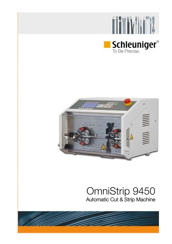 OmniStrip 9450 automatic cut & strip machine