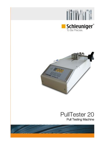 PullTester 20 pull force testing device for crimp connections
