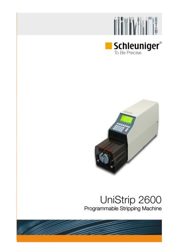 UniStrip 2600 programmable wire stripping machine