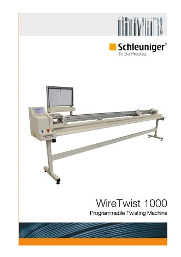 WireTwist 1000 programmable twisting machine