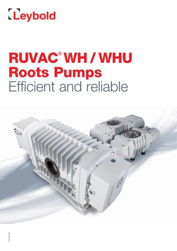 RUVAC® WH / WHU Roots Pumps