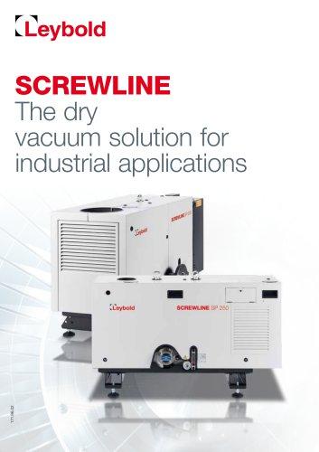 SCREWLINE - Dry compression for vacuum